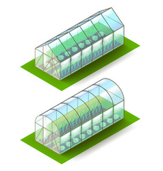 isometric greenhouse isolated on white vector image vector image