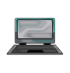 laptop computer device technology digital vector image vector image