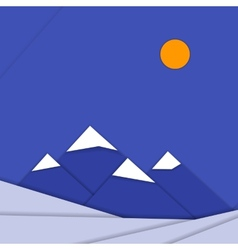 Material design landscape background with vector image vector image