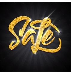 Sale calligraphic inscription gold effect vector