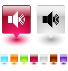 sound square button vector image vector image
