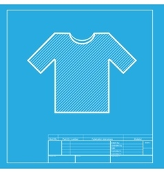 T-shirt sign White section of icon vector image vector image