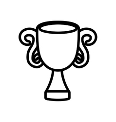 trophy win sport award icon outline vector image