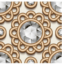 vintage gold jewellery pattern vector image vector image
