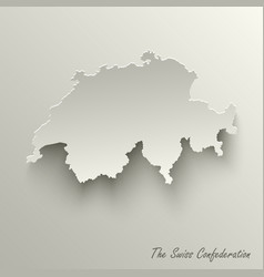 Abstract design map the swiss confederation vector
