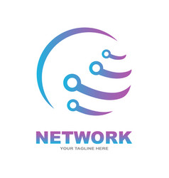Abstract network connection global network vector
