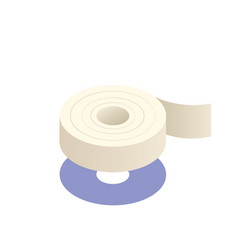Adhesive tape isometric vector
