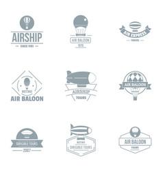 Airborne logo set simple style vector