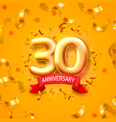 anniversary ceremony balloons 30 numbers balloons vector image