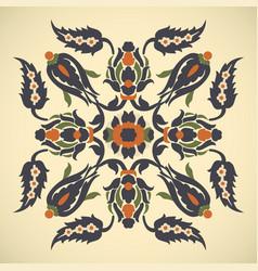 Arabesque vintage decor floral ornate square vector
