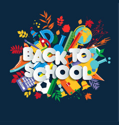 back to school web banner colorful kid vector image