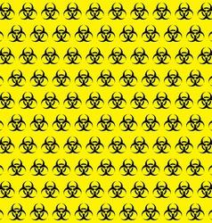 Bio hazard sign pattern vector image