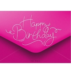 Birthday envelope pink vector