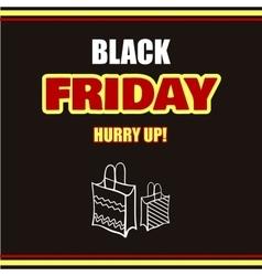 Black Friday Dark Background vector image