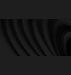 Black waves on back backdrop stylish modern vector