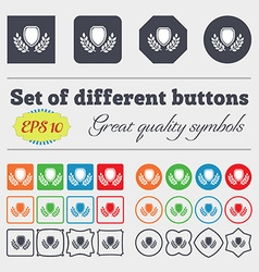 Blank award medal icon sign Big set of colorful vector image