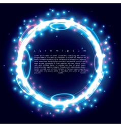 blue ring vector image vector image