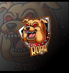 Bulldog mascot logo e sport vector
