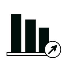 Business statistics chart financial office work vector