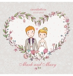Cartoon concept marriage vector