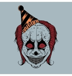 Cartoon scary clown vector