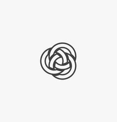Circle interlocking on white background creative vector