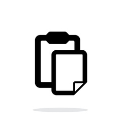 Clipboard with file simple icon on white vector image