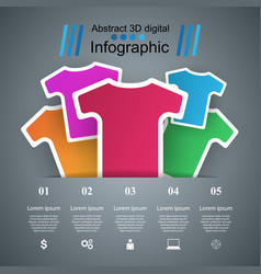 clothing business infographics t-shirts t-shirts vector image