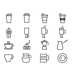 Coffee Outline Elements vector image
