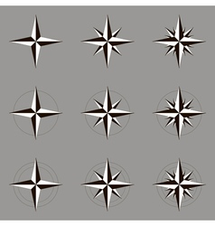 Collection of icons wind rose vector