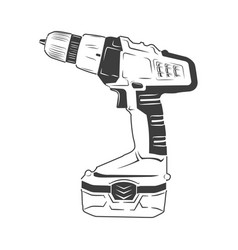electric screwdriver isolated vector image