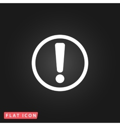 Exclamation mark flat icon vector