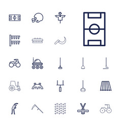 Field icons vector
