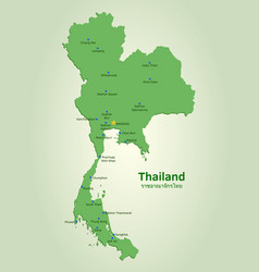 Flat map of thailand vector
