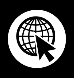 go to web icon design vector image