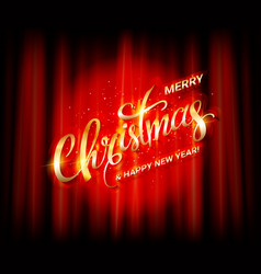 golden lettering with christmas vector image