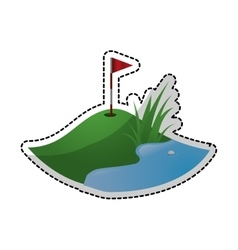 Golf icon image vector