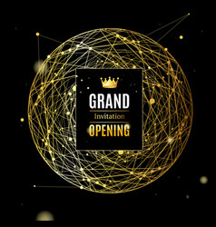 grand opening card poster background on a dark vector image