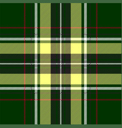 green red check plaid texture seamless pattern vector image