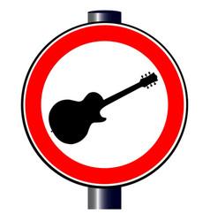 Guitar traffic sign vector
