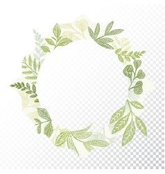 Hand drawn circle flaral frame vector