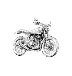 Hand drawn sketch classic motorcycle vector