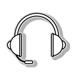 Headsets computer device icon vector