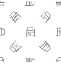 home tv system pattern seamless vector image