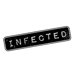 Infected rubber stamp vector