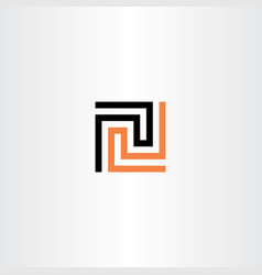 Labyrinth puzzle game icon logo vector