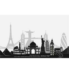 landmark world bookmark for travel vector image