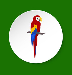 Macaw parrot icon in flat style vector