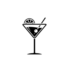 martini glass sign vector image