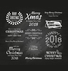 merry christmas and happy new year 2087 typography vector image